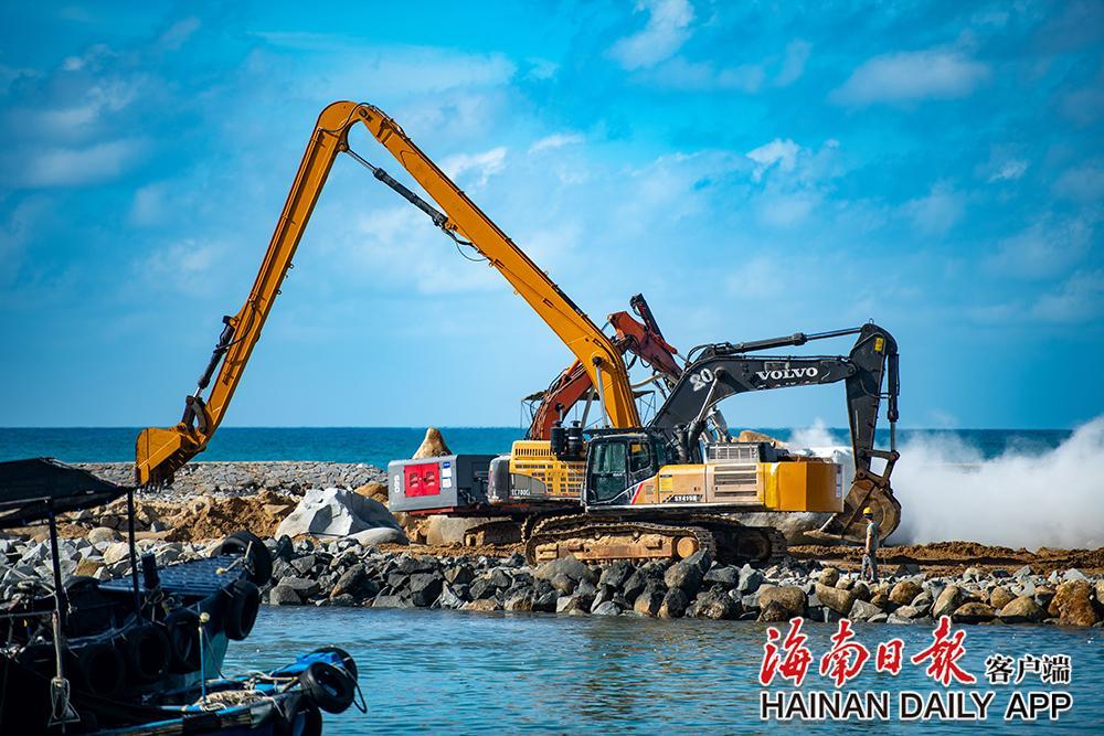 万宁乌场一级渔港项目加紧建设